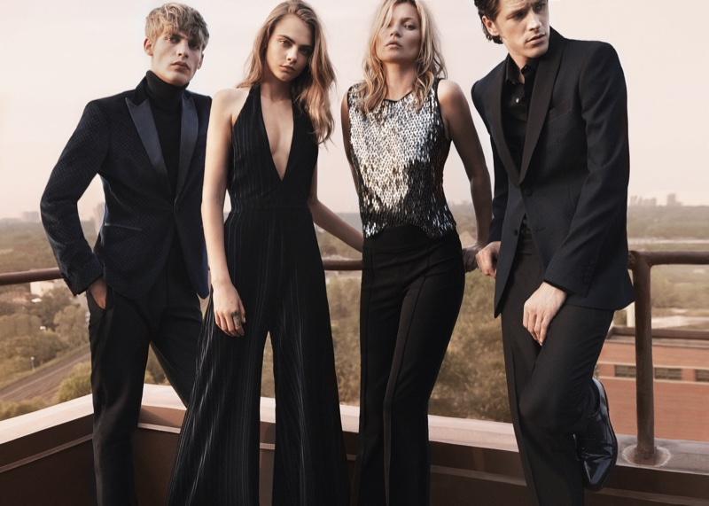 Cara Delevingne Kate Moss Are Party Chic In Mangos Evening Collection
