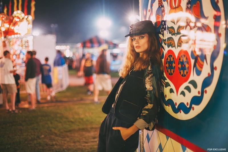 Exclusive: Lyoka Tyagnereva by Adrian Nina in 'Neon Carnival'