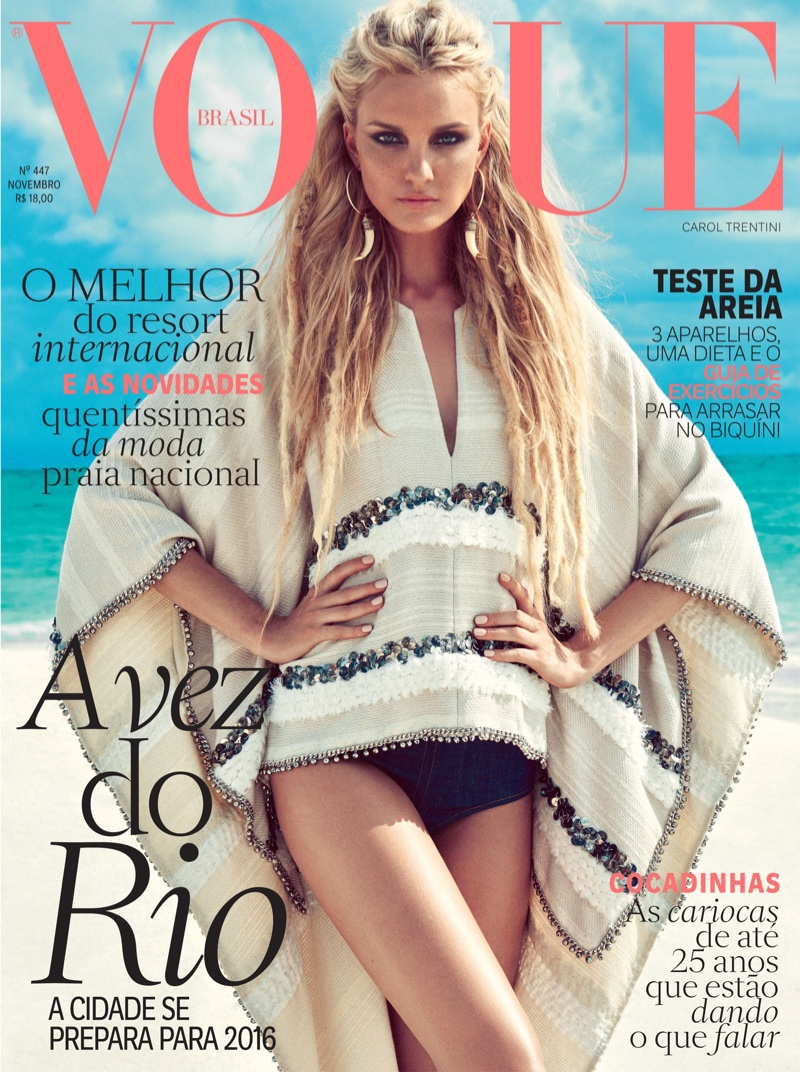 Caroline Trentini on Vogue Brazil November 2015 cover