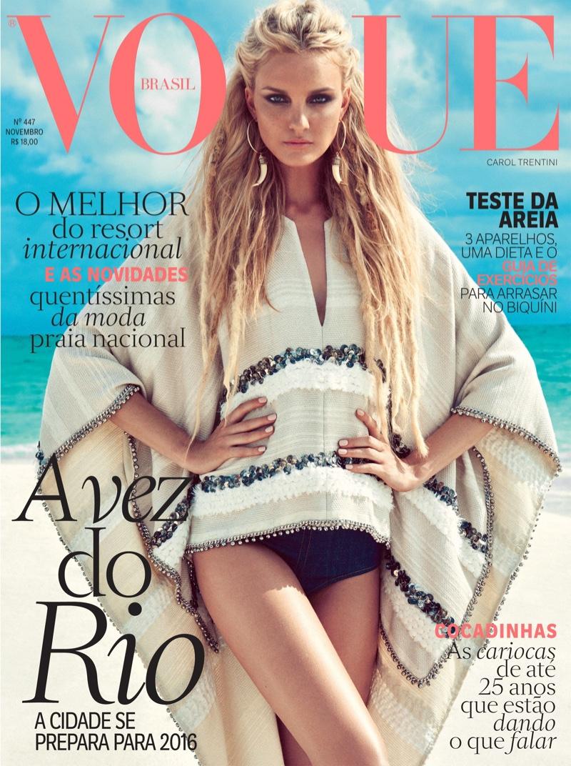 Caroline Trentini on Vogue Brazil November 2015 cover