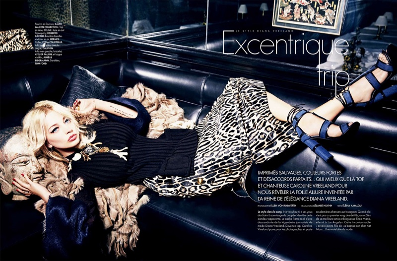 Caroline Vreeland Wears Eccentric Style for ELLE France