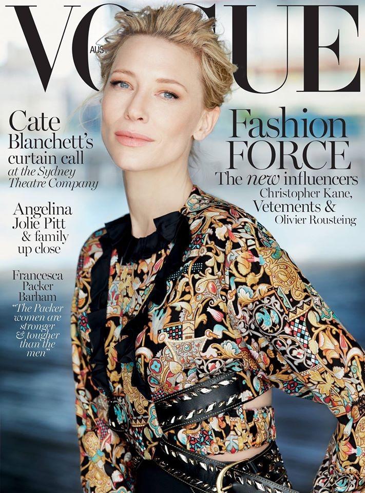 Cate Blanchett on Vogue Australia December 2015 cover