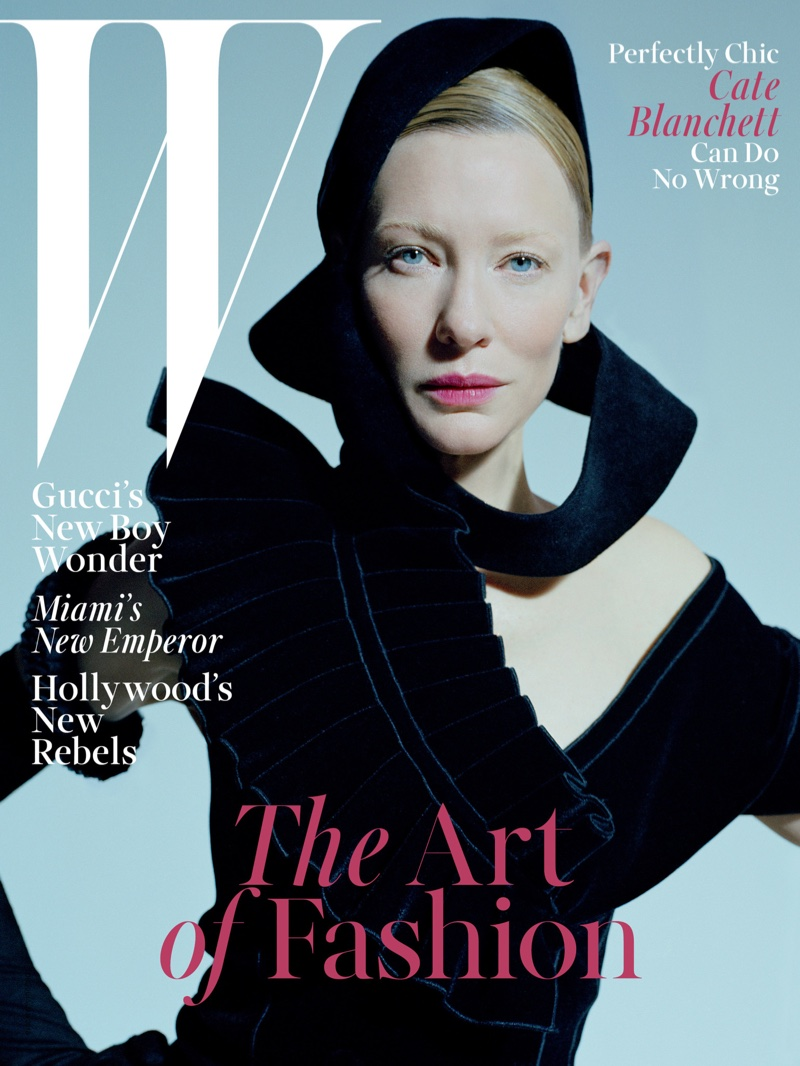 Cate Blanchett on W Magazine December 2015 cover