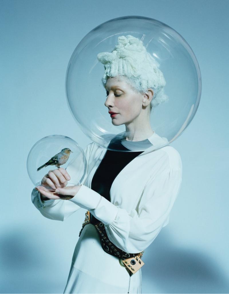 Cate Blanchett poses in avant garde looks for the magazine