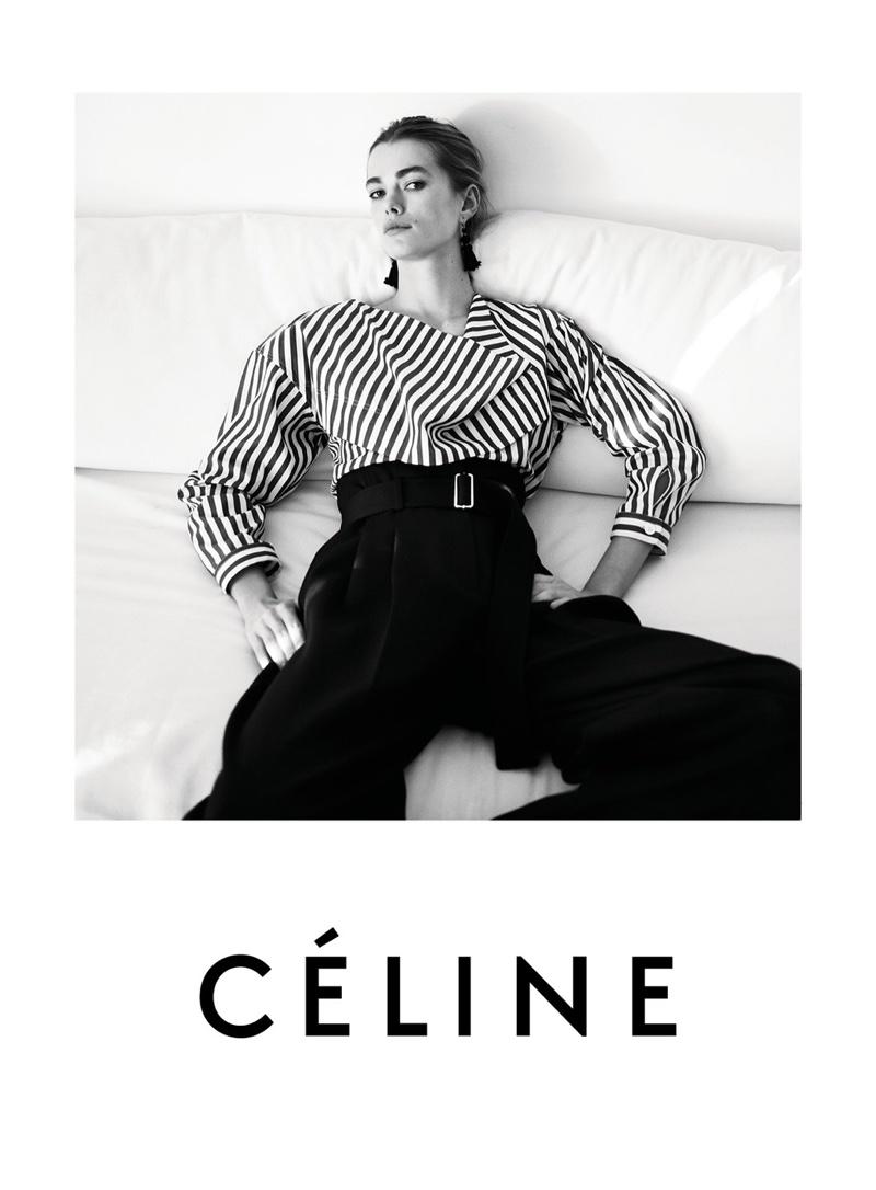 Mathilde Brandi stars in Céline's resort 2016 campaign