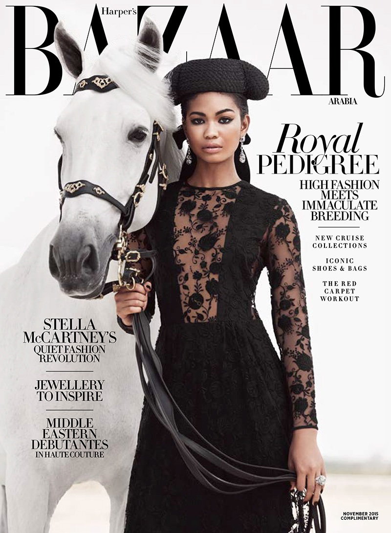 Chanel Iman Exudes Elegance In Equestrian Story For Harper`s Bazaar Arabia November 2015