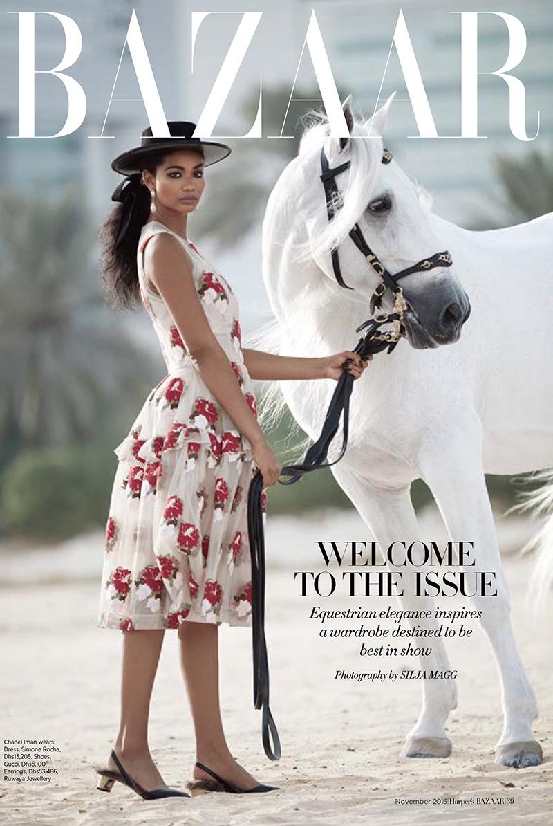 Chanel Iman stars in Harper's Bazaar Arabia's November issue