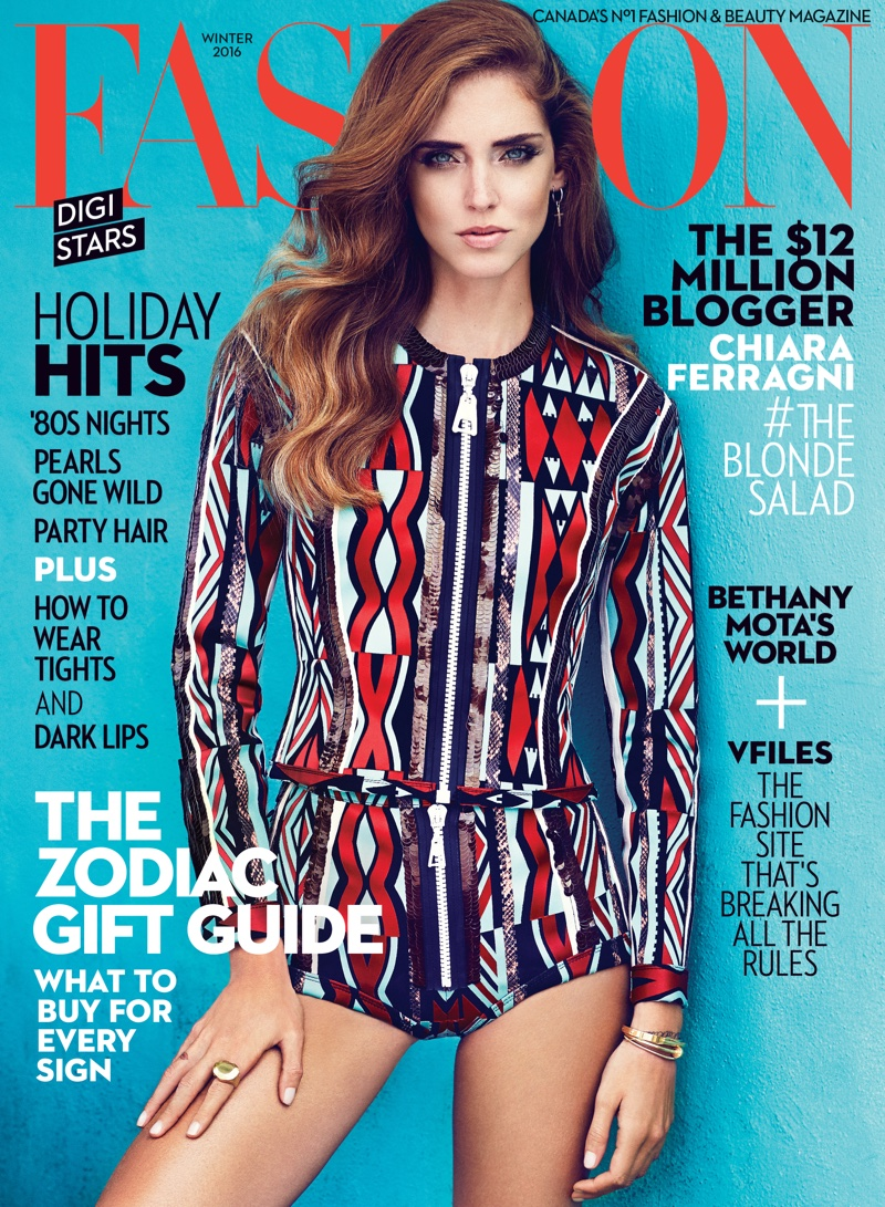 Fashion Magazines Look To Familiar Faces For Cover Models: Chiara Ferragni FASHION Magazine Winter 2016 Cover Shoot