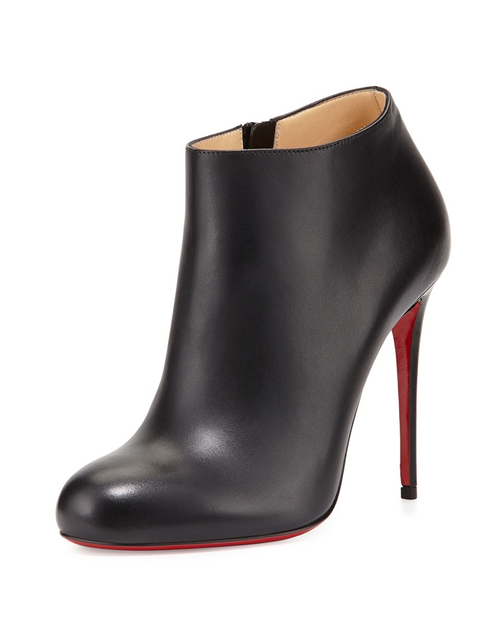 louboutin boots black