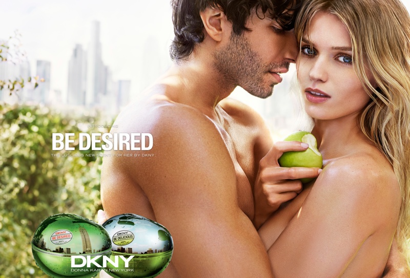 DKNY Be Desired perfume campaign with Abbey Lee Kershaw and Akin Akman