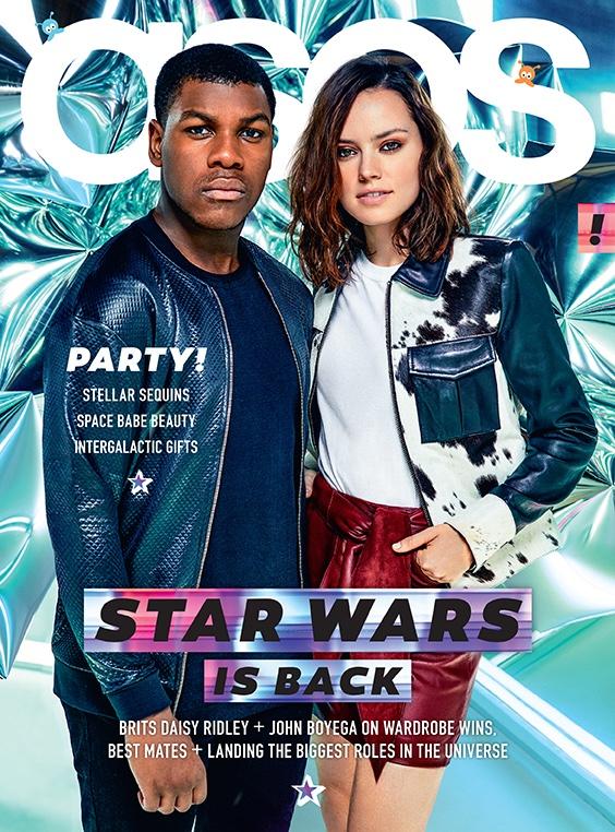 Daisy Ridley and John Boyega on ASOS December 2015 cover
