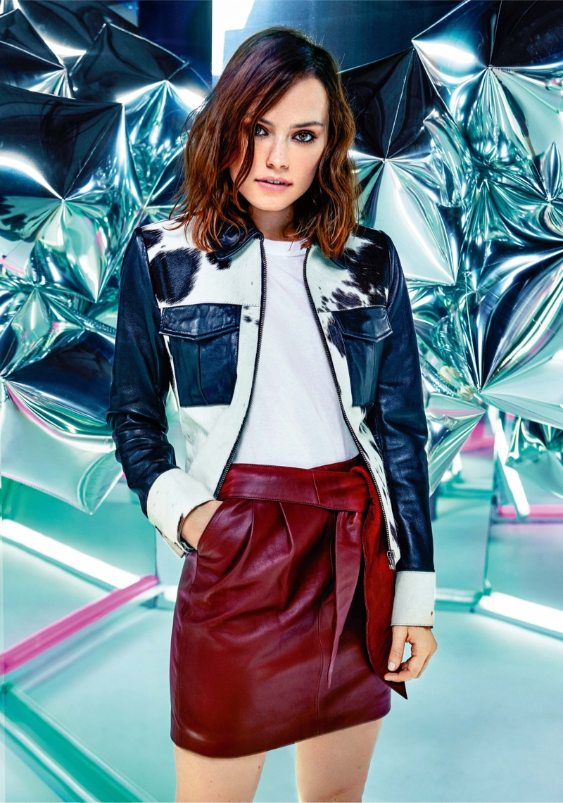 Daisy Ridley poses in ASOS Magazine's December issue
