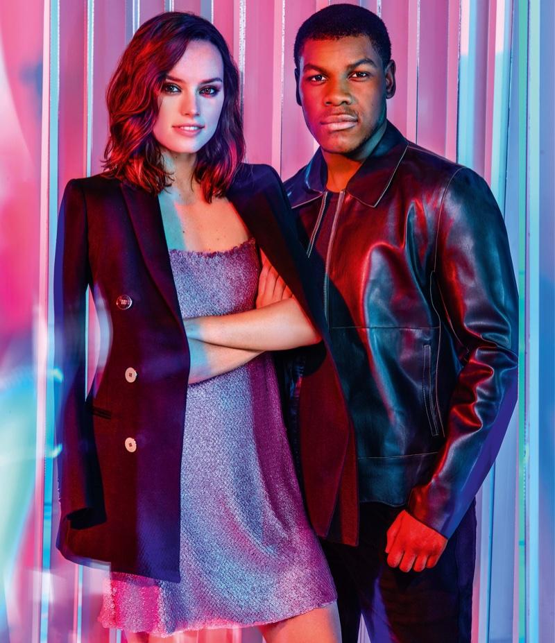 'Star Wars' Actors Daisy Ridley + John Boyega Land ASOS' December Issue