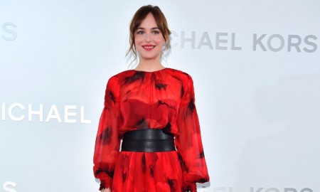 Dakota Johnson at Michael Kors Ginza store opening in Japan