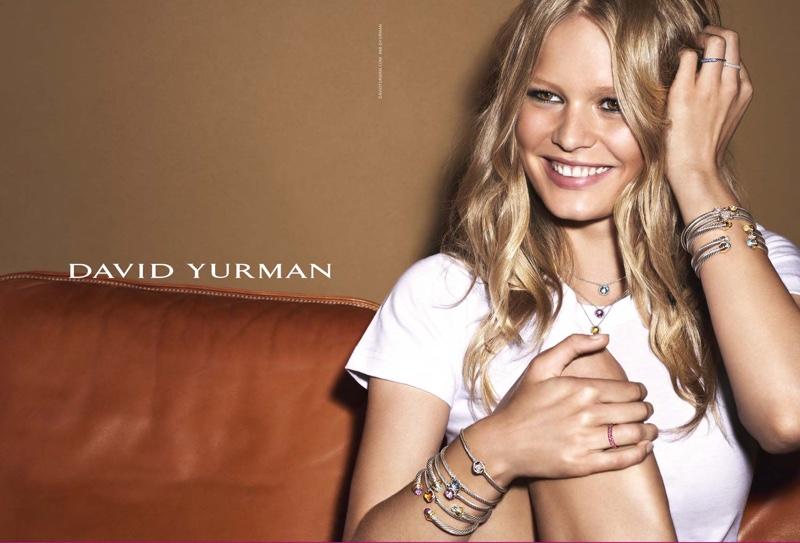 Anna Ewers Shines in David Yurman's Holiday 2015 Campaign