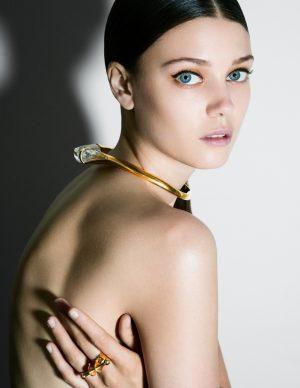 Diana Moldovan Models Evening Looks for BAZAAR Romania by Dan Beleiu