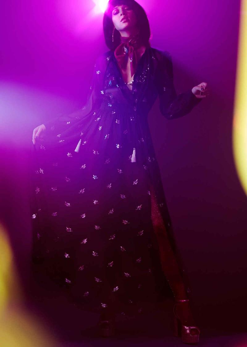 Nasty Gal Sheer Luck Maxi Dress, Nasty Gal Disco Studded Platform