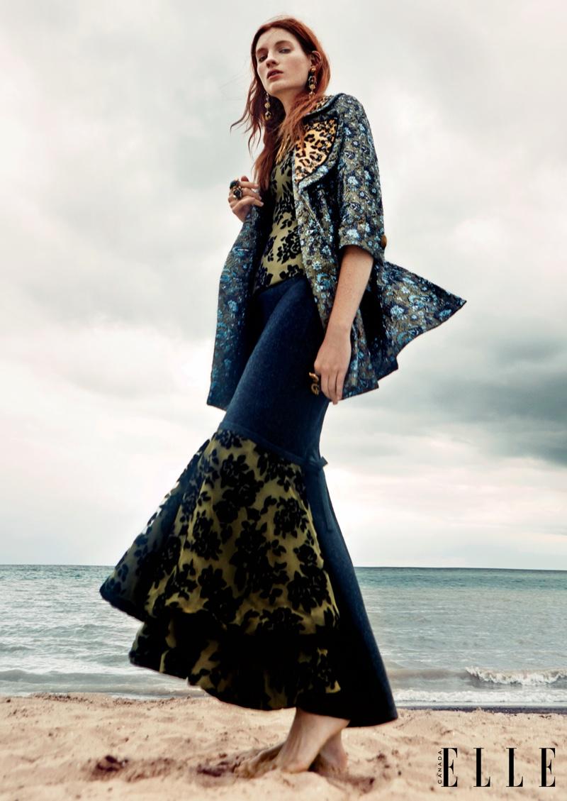 Kristin Zakala stars in ELLE Canada's December issue