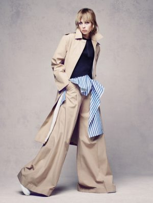 Edie Campbell Wears the Oversized Look for Vogue China