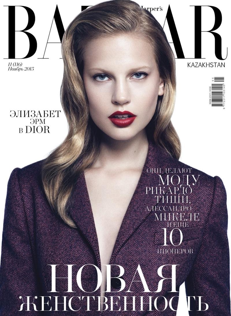 Elisabeth Erm Wears Major Curls in BAZAAR Kazakhstan Editorial
