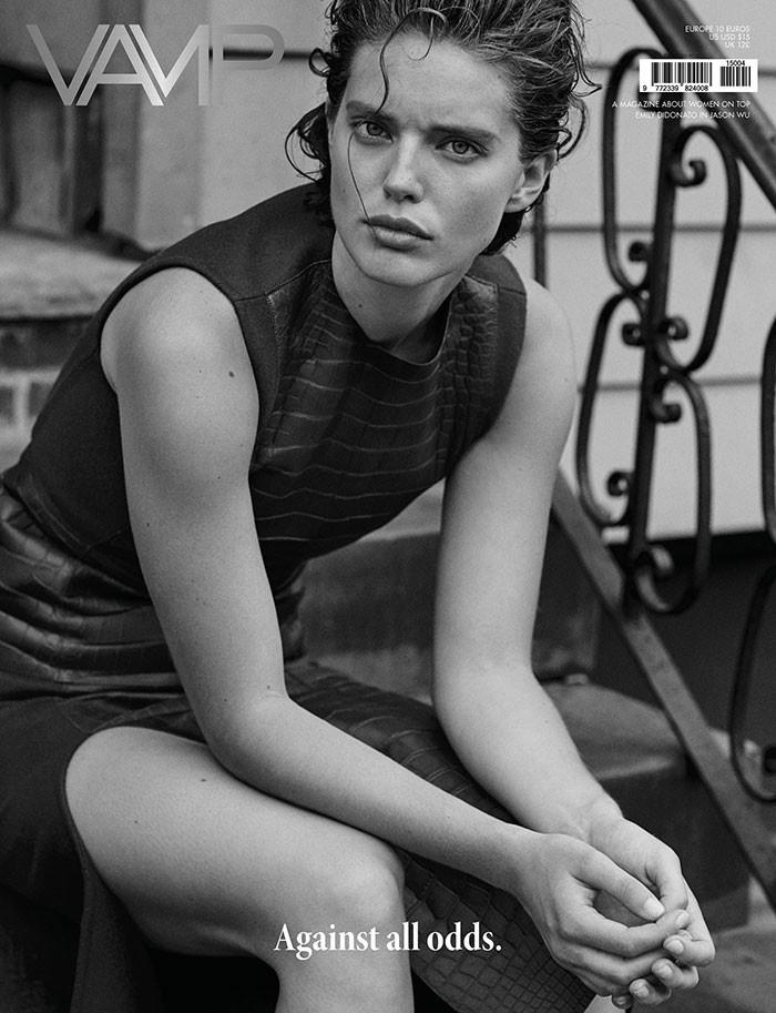 Emily DiDonato on Vamp Magazine fall-winter 2015 cover
