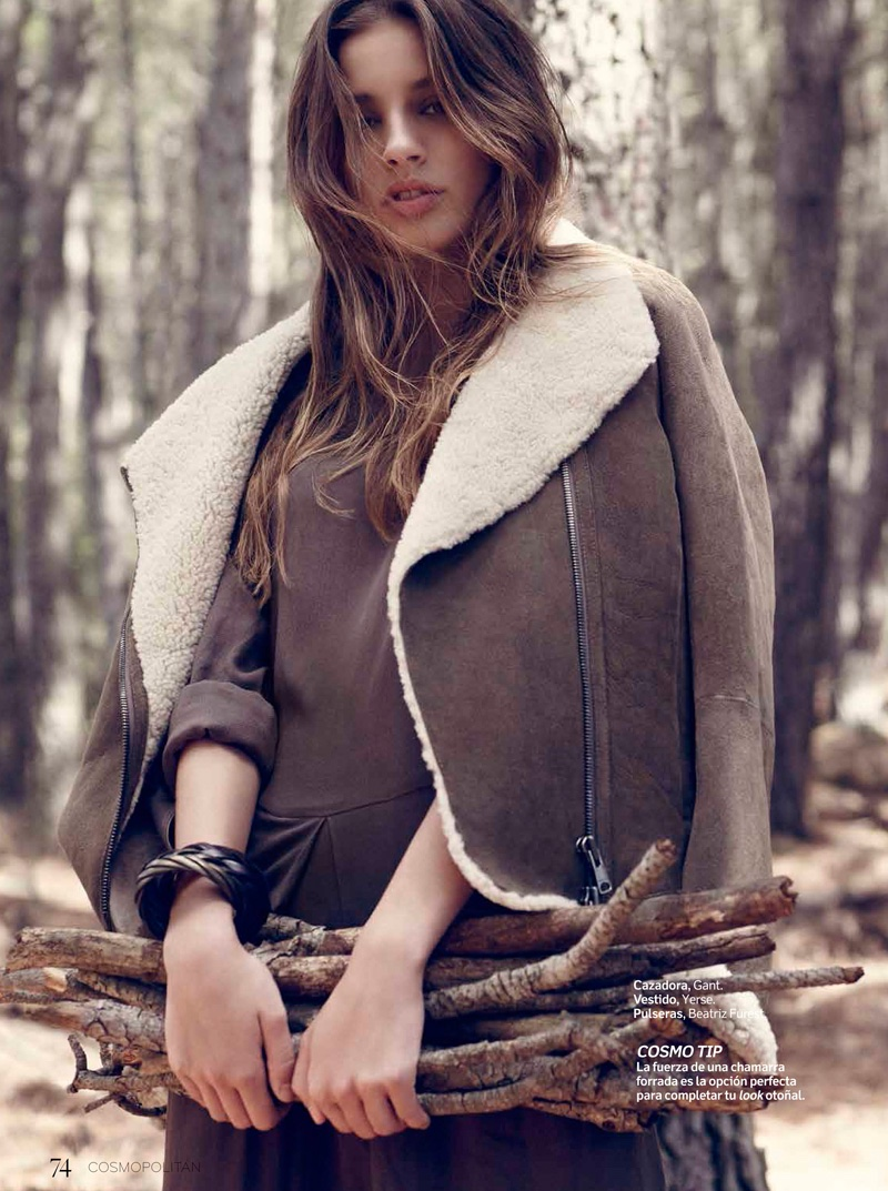 Marta Aguilar Wears Fall Coats for Cosmopolitan Mexico by Vladimir Marti