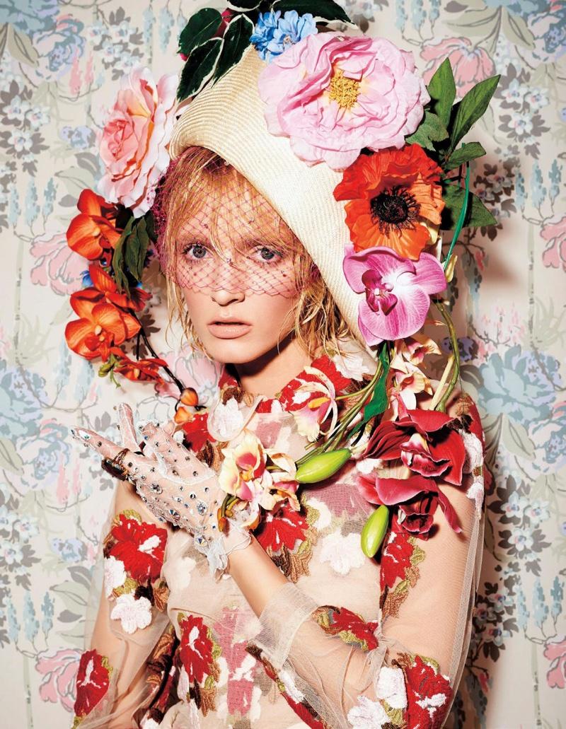 Daria Strokous stars in Harper's Bazaar Japan's December issue