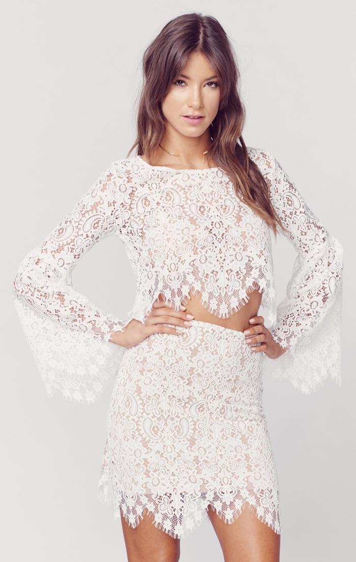 1464369b26fa White Long Sleeve Lace Shirt – Fashion dresses