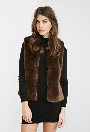 Chic Layering: 7 Faux Fur Vests to Shop