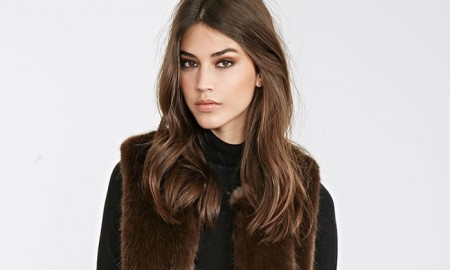 Forever 21 Classic Faux Fur Vest in Brown