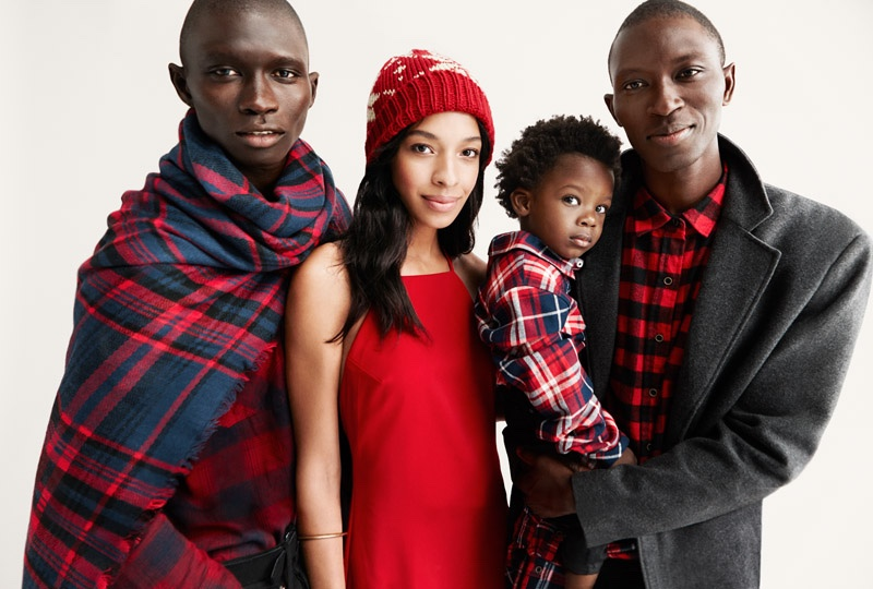 Lukas Cabral with his mother Krystle Wilson, father Armando Cabral, and uncle Fernando Cabral for Forever 21's holiday 2015 campaign