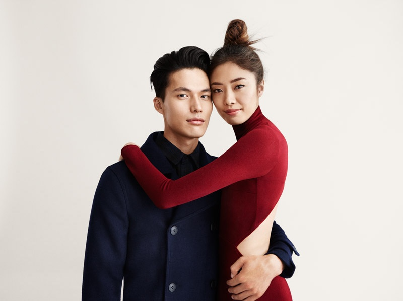 Husband and wife duo Dae Na and Bo Ra Nam for Forever 21 Holiday 2015 campaign