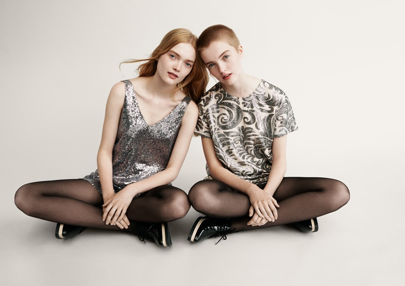 Twin sisters Ruth and May Bell for Forever 21 Holiday 2015 campaign