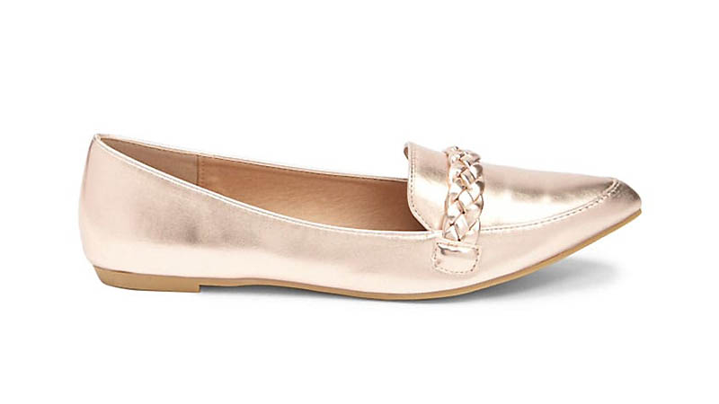 Forever 21 Metallic Dressy Flats in Rose Gold $18