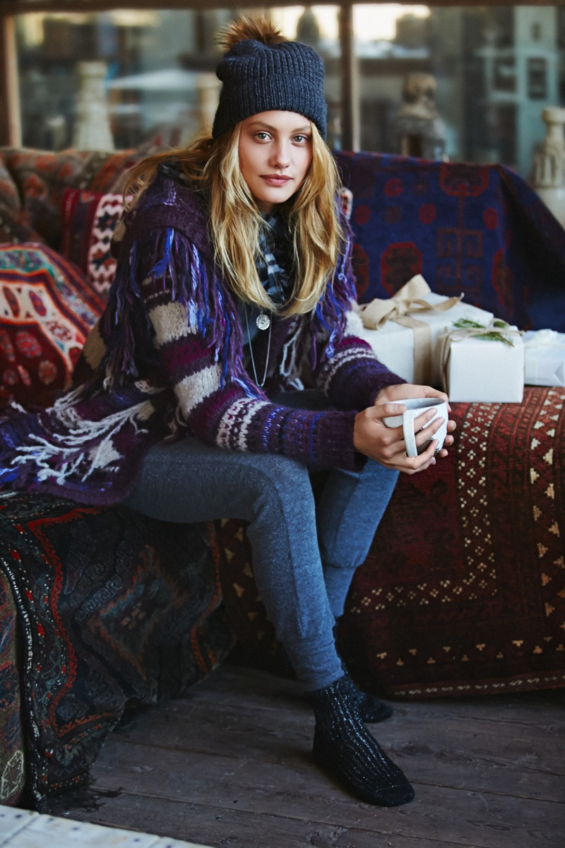 The First Frost: Queeny van der Zande Wears Free People's Sweater Selection