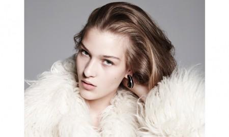 The model wears fur looks photographed by Nagi Sakai