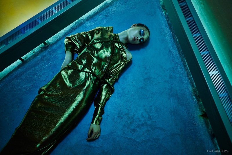 Gold Dress Lanvin, Gold Rope stylist's own