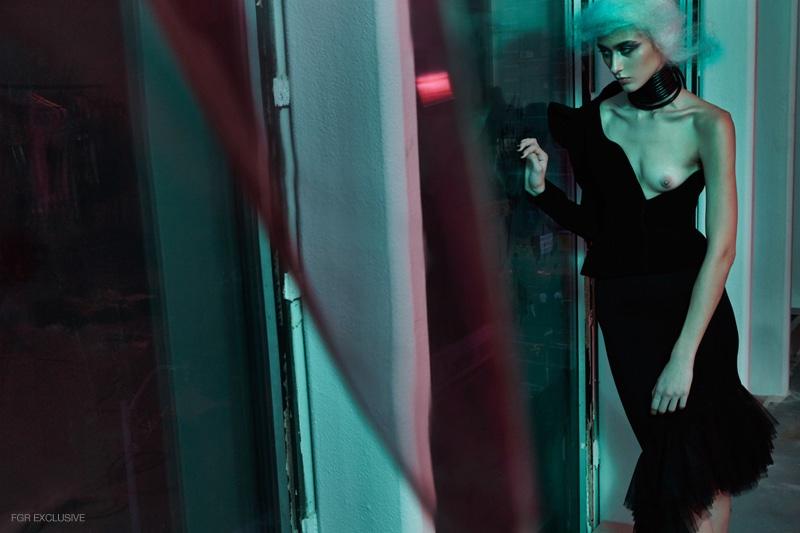 Black Jacket Mugler, Black Skirt Jean Paul Gaultier, Shoes Costume National, Necklace stylist's own