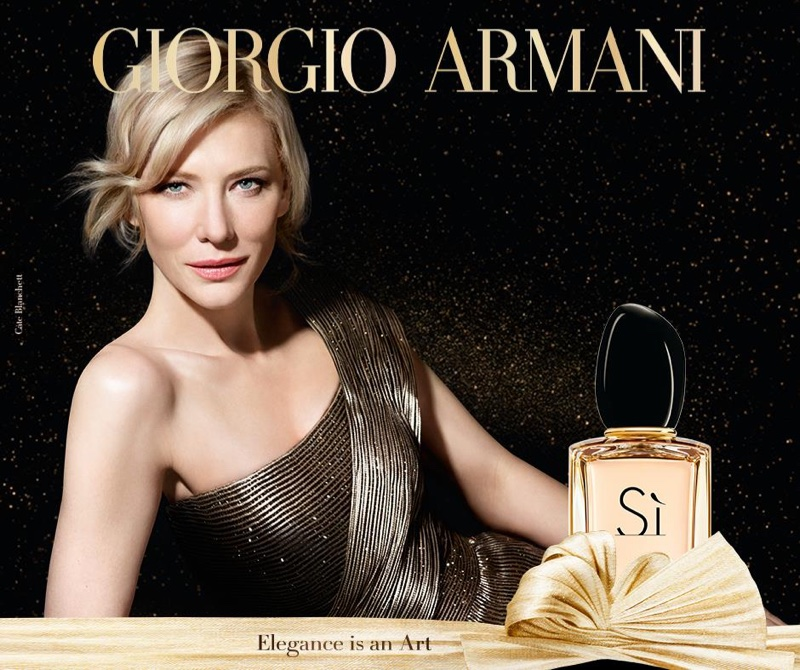 Cate Blanchett for Armani Sì Holiday Limited-Edition Perfume campaign