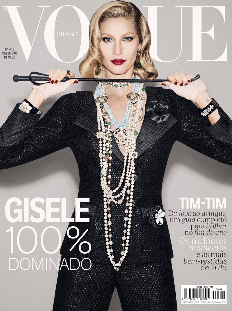 Gisele Bundchen on Vogue Brazil December 2015 cover