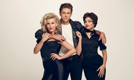 Grease Live cast photo with Julianne Hough, Aaron Tveit and Vanessa Hudgens