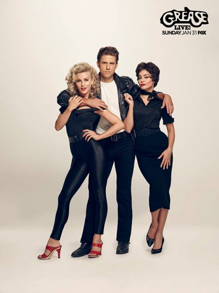 Julianne Hough, Vanessa Hudgens Channel Retro Style for 'Grease: Live' Photos