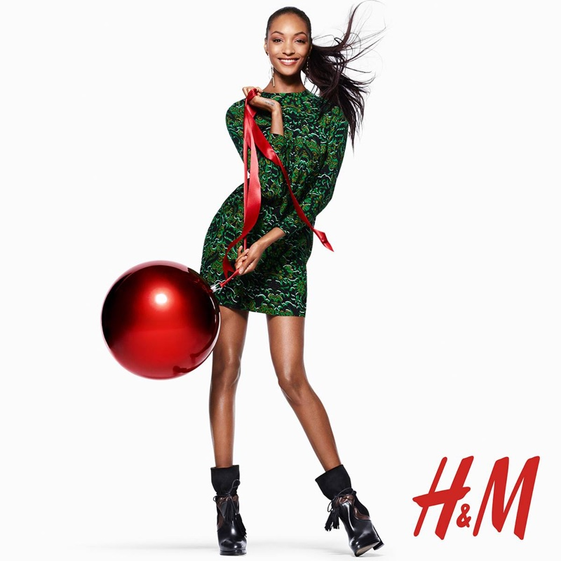 Jourdan Dunn for H&M Holiday 2015 campaign