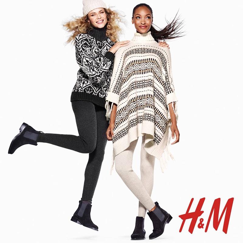 H&M Holiday 2015 campaign with Natasha Poly and Jourdan Dunn