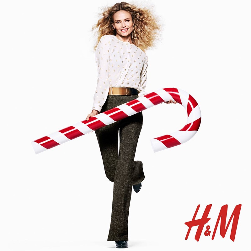Natasha Poly for H&M Holiday 2015 campaign