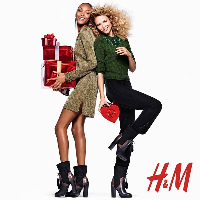 Jourdan Dunn & Natasha Poly Have a Merry H&M Holiday