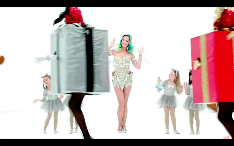 Katy Perry Plays A Festive Fairy In H&M`s Holiday Commercial
