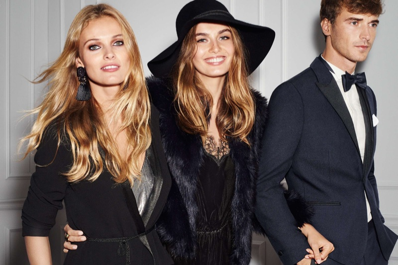 H&M Spotlights Party Perfect Outfits with Top Models