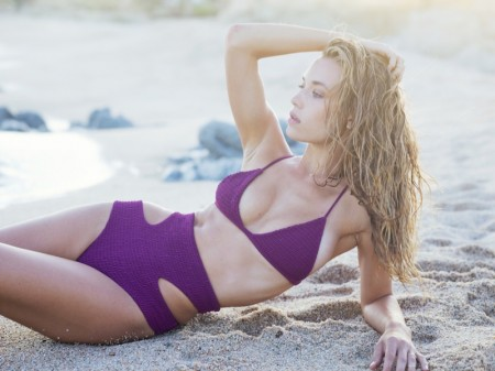 Hannah Ferguson Soaks Up the Sun in Tori Praver Swimsuits
