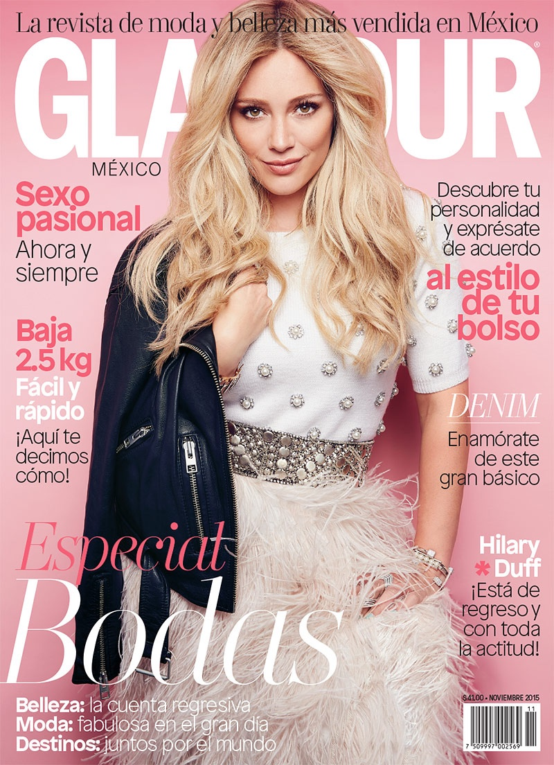 Hilary Duff on Glamour Mexico November 2015 cover